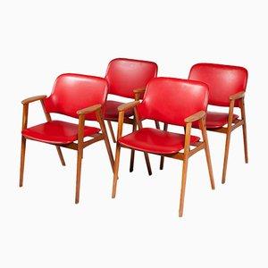 Chaises de Salle à Manger par Cees Braakman pour Pastoe, 1950s, Set de 4