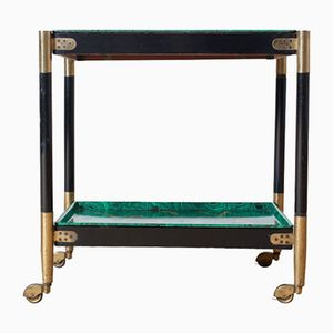 Malachite Serving Trolley by Atelier Fornasetti, 1960s