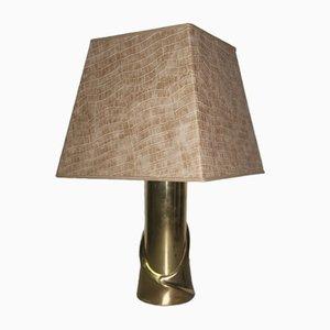 Lámpara de mesa de latón de Luciano Frigerio, años 70