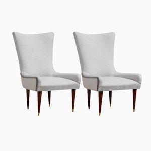 Italienische Mid-Century Stühle, 1950er, 2er Set