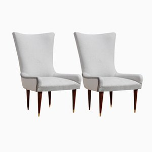 Mid-Century Italian Chairs, 1950s, Set of 2