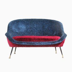 Italian Plush Sofa by Gigi Radice for Minotti, 1950s