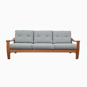 Sofá de 3 plazas en gris claro, años 60