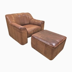 DS44 DS 44 Chair & Ottoman Set from de Sede, 1970s