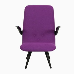 Purple Easy Chair by G. van Os for Van Os Culemborg, 1950s