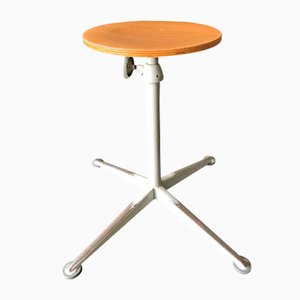 Mid-Century Dutch Stool by Friso Kramer for Ahrend De Cirkel, 1960s