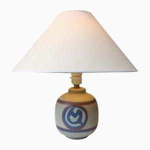 Lámpara de mesa danesa de cerámica de Ole Bøgild para Le Klint, años 70