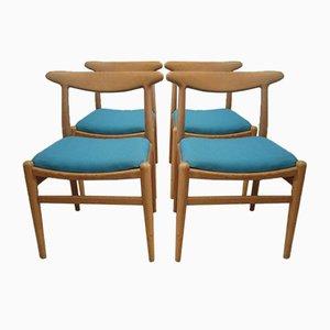 W2 Chairs by Hans J. Wegner for Damien Gernay, Magali Vernier & Olivier Pitot, 1953, Set of 4