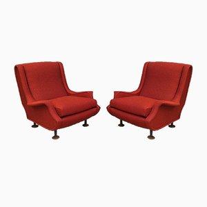 Italienische Vintage Sessel von Marco Zanuso für Arflex, 1960er, 2er Set