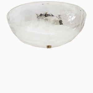 Wiener Einbau Deckenlampe aus Glas von J. T. Kalmar, 1970er