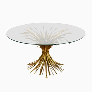 French Gilded Coffee Table, 1960s