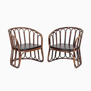 Rattan & Skai Armchairs from Rohé Noordwolde, 1960s, Set of 2