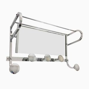 Vintage French Art Deco Coat Rack and Mirror