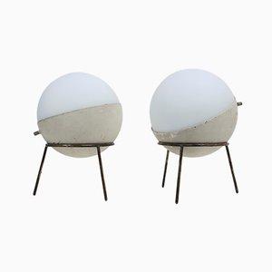 Tischlampen mit Dreifuß von Stilnovo, 1950er, 2er Set