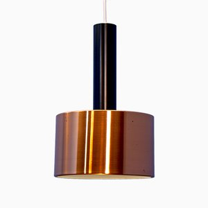 Danish Copper Pendant Light, 1960s