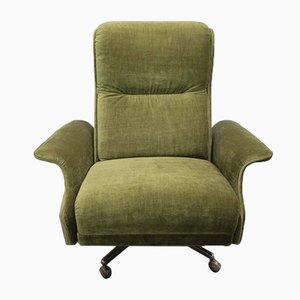 Vintage German Green Swivel Lounge Chair