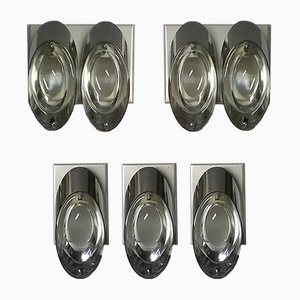 Wall Lights by Oscar Torlasco for Stilkronen, 1960s, Set of 5