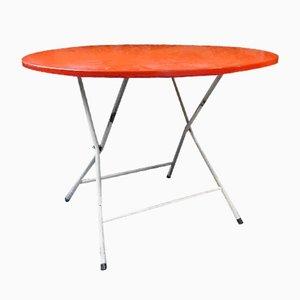 Mesa plegable francesa en rojo de metal