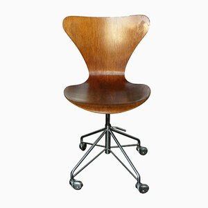 Vintage 3117 Office Swivel Chair by Arne Jacobsen for Fritz Hansen, 1969