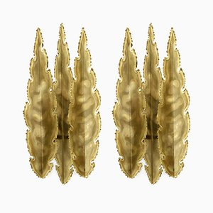 Wall Lights in Brass by Svend Aage Holm Sørensen, 1970s, Set of 2