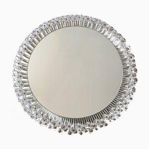 Specchio grande Mid-Century con luce di Rupert Nikoll