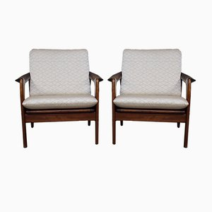 Vintage Dutch Lounge Chairs from De Ster Gelderland, Set of 2