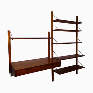 Danish Royal System Two-Part Wall Shelving System by Poul Cadovius for Cado, 1960s