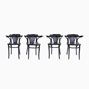 Vintage Nordic Chairs in Black, Set of 4