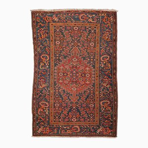 Tapis en Laine Orange, Rouge et Verte, 1900s
