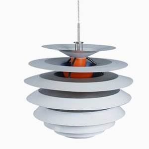 Mid-Century Danish Model PH Contrast Hanging Lamp by Poul Henningsen for Louis Poulsen
