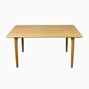 Tavolo da pranzo in legno di quercia massiccio di Niels Otto Møller per J.L. Møller Møbelfabrik, Danimarca, 1954
