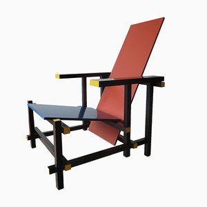 Red and Blue Chair by Gerrit Rietveld for Cassina, 1970s