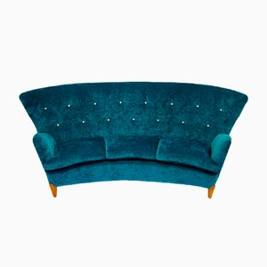 Mid-Century Swedish Sea-Green Sofa