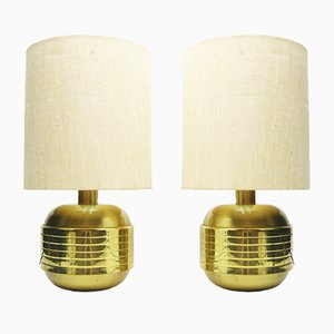 Messing Tischlampen von Paf Milano, 1960er, 2er Set
