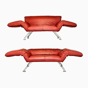 Vintage Swiss DS 142 Sofas or Chaise Lounges by Winfried Totzek for de Sede, Set of 2