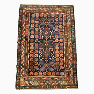 19th Century Woolen Caucasus Shirvan Rug with Geometric Design
