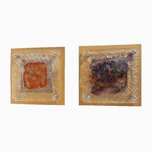 Wandlampen von Tony Zuccheri für Venini, 1960er, 2er Set