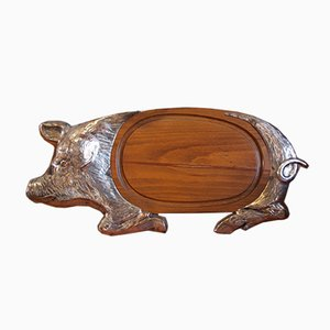 Pig Serving Tray from Valenti, 1970s