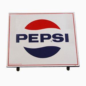 Cartel de Pepsi vintage de Wiener Email Hölzl