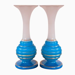 Antique Biedermeier Vases, Set of 2