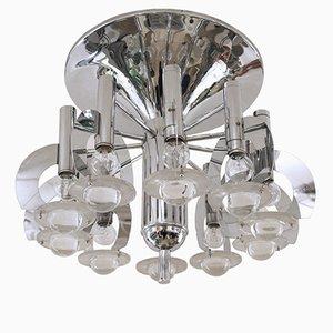 Deckenlampe von Gaetano Sciolari, 1970er