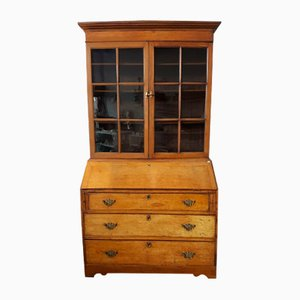 19th Century English Secretaire with Display Cabinet