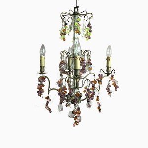 Vintage French Lead Crystal Chandelier