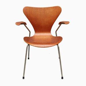 Silla Series 7 de palisandro de Arne Jacobsen para Fritz Hansen, años 60
