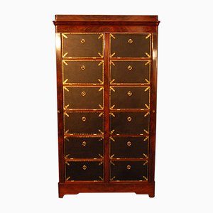 Antique French Mahogany Veneer Storage Cabinet