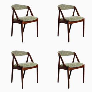 Sedie da pranzo in teak di Kai Kristiansen per Schou Andersen, anni '60, set di 4