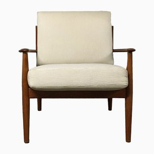 Danish Mid-Century 118 Armchair by Grete Jalk for France & Son, 1950s