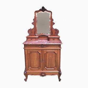 Toeletta antica Luigi XV in legno di noce