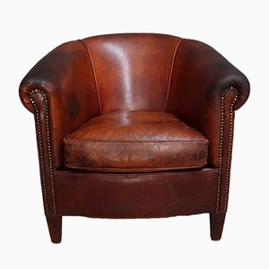 Vintage Dutch Cognac Leather Club Chair