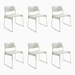 Vintage Omstak Chairs by Rodney Kinsman for Bieffeplast, 1972, Set of 6